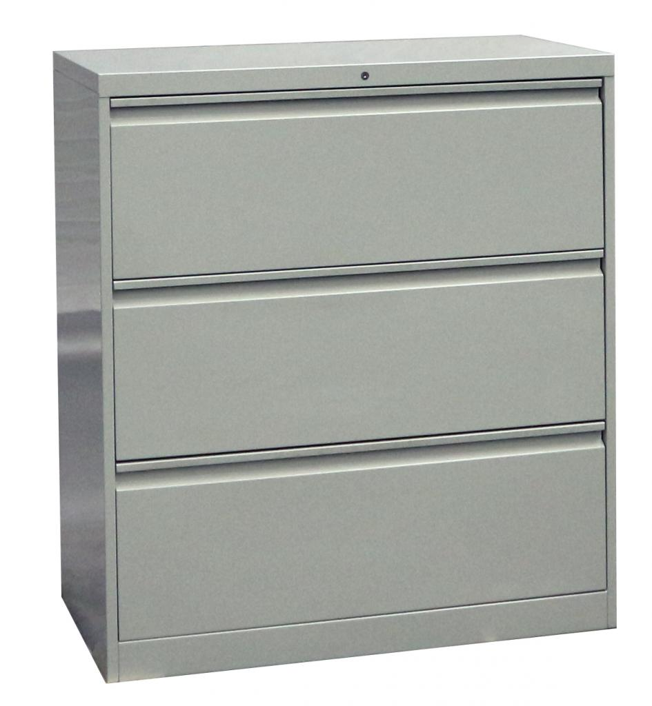 Steel Lateral File Cabinet Goose Type Handle 3 Doors