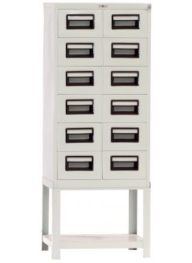 Steel Index Card File Cabinet